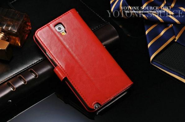 Чехол-книжка на Samsung Galaxy Note 3 Neo из кожи
