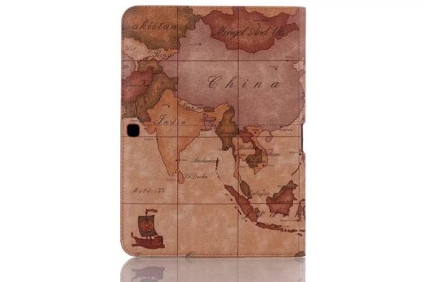 Чехол-подставка из кожы с рисунком для Samsung Galaxy Tab 4 10.1