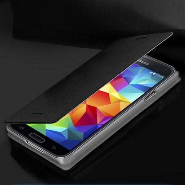 Чехол-книжка из качественной кожи на Samsung Galaxy S5 Mini