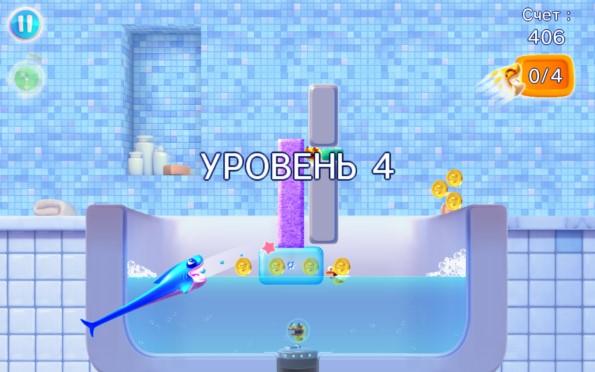 Shark Dash – пожиратель уток для Samsung Galaxy S5, S4, Note 3, Note 4