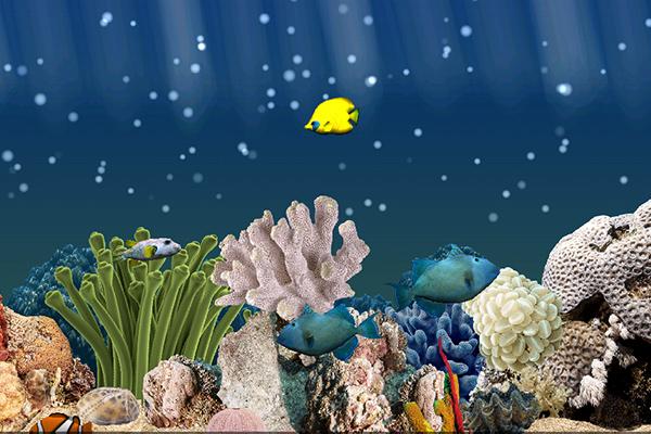 Aquarium 3D – обои с рыбами для Samsung Galaxy Note 4, Note 3, S5, S4, S3