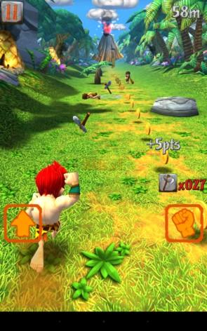 Caveman Dino Rush – доисторический бег для Галакси С5, С4, Нот 4, Нот 3