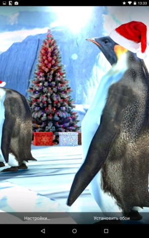 Christmas Edition Penguins – новогодние пингвины для Samsung Galaxy S5, S4, Note 3, Note 4