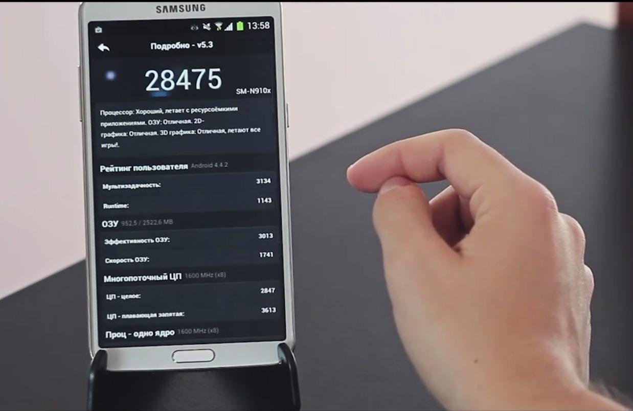 HDC Samsung Galaxy Round в AnTuTu