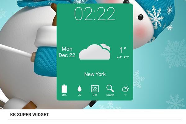 KK Super Widget – информативные виджеты для Galaxy S5, S4, S3, Note 3, Note 4, Ace 2