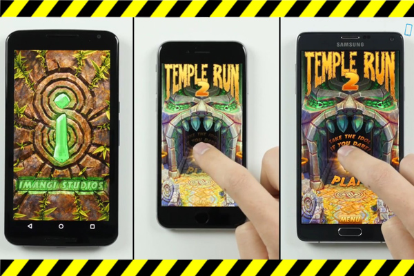 Видео-тест скорости работы Galaxy Note 4 vs Nexus 6 vs iPhone 6
