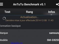 Samsung Galaxy S6 (SM-G925F) с 16-мегапиксельной камерой замечен в AnTuTu