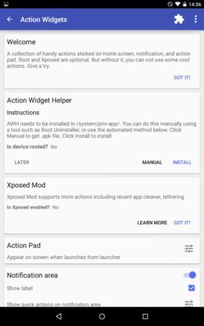 Action Widgets – переключатели для экрана для Galaxy S5, S4, S3, Note 3, Note 4, Ace 2