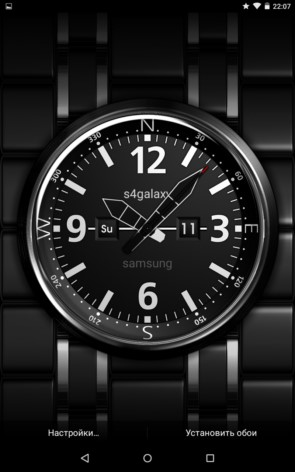 Часы на Экране – обои с временем для Galaxy S5, S4, S3, Note 3, Note 4, Ace 2