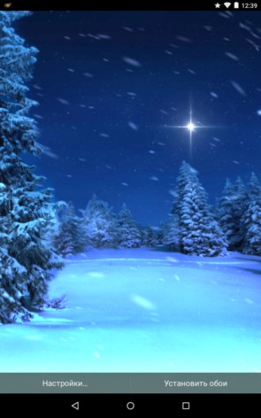 Diggin Winter – зимний снегопад для Galaxy S5, S4, S3, Note 3, Note 4, Ace 2