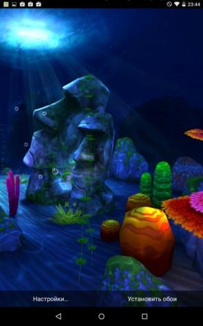 Ocean 3D – дивное дно для Samsung Galaxy S5, S4, Note 3, Note 4