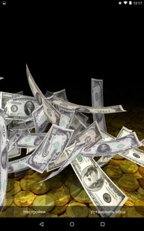 "Падающие деньги – ""богатые"" обои для Galaxy S5, S4, S3, Note 3, Note 4, Ace 2"