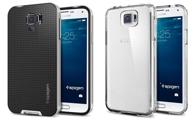Samsung Galaxy S6 в чехлах Spigen - фото