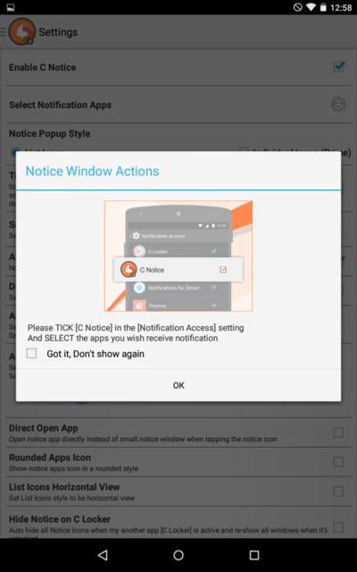 C Notice – удобные уведомления для Galaxy S5, S4, S3, Note 3, Note 4, Ace 2