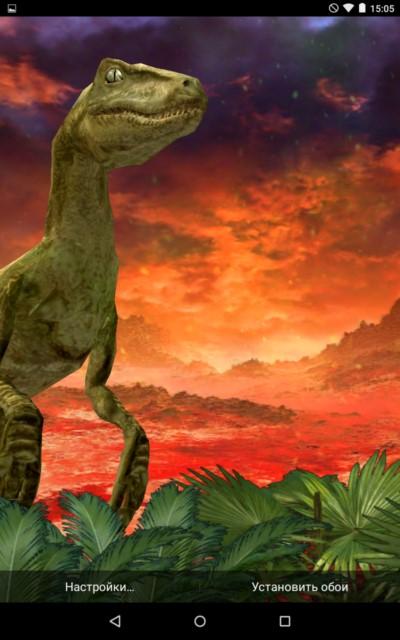 Dinosaur 3D – выживший динозавр для Galaxy S5, S4, S3, Note 3, Note 4, Ace 2
