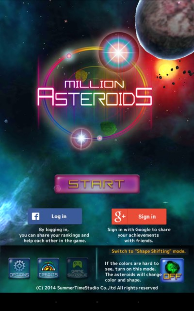Million Asteroid – уничтожение астероидов для Samsung Galaxy Note 4, Note 3, S5, S4, S3