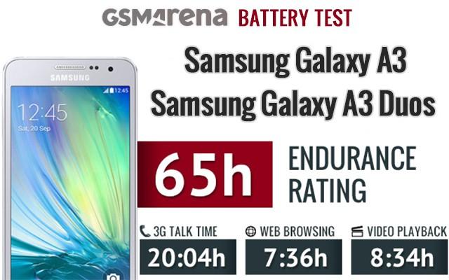 Samsung Galaxy A3 и Galaxy A3 Duos - тесты автономности