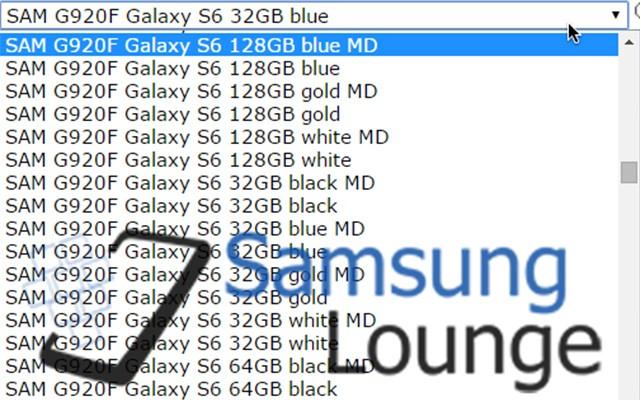 Цвета корпуса Galaxy S6 и Galaxy S6 Edge