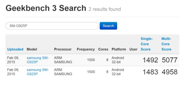 Samsung Galaxy S6 Edge бьет рекорды в Geekbench 3