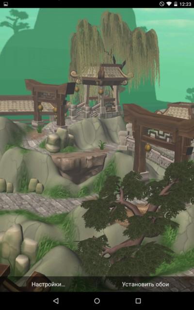 3D Mystic Temple – храм в горах для Samsung Galaxy Note 4, Note 3, S6, S5, S4, S3