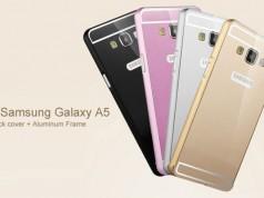 Аллюминиевый чехол бампер на Galaxy A5