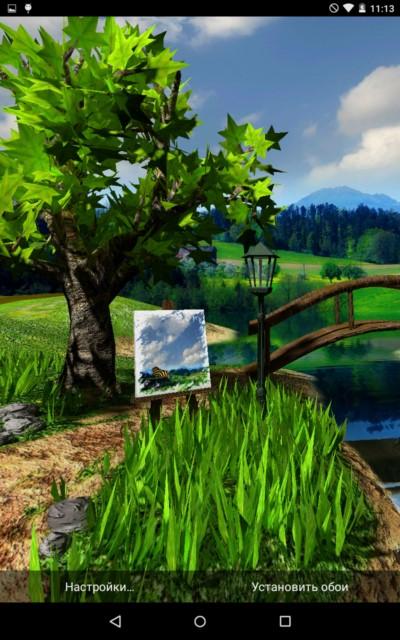Parallax Nature – летний денёк для Samsung Galaxy Note 4, Note 3, S6, S5, S4, S3