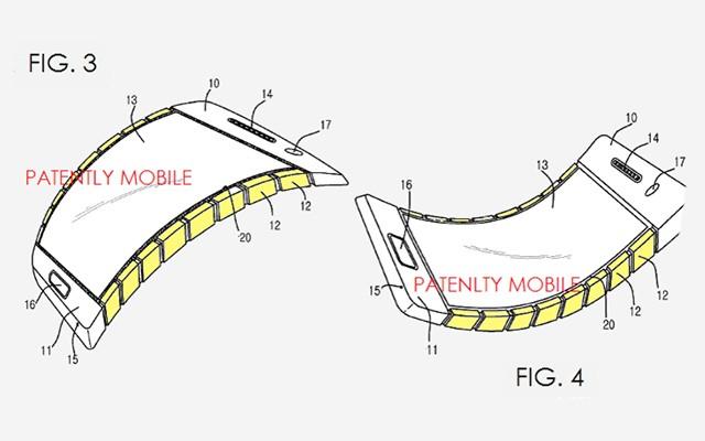 Патент на гибкие смартфоны получен компанией Samsung