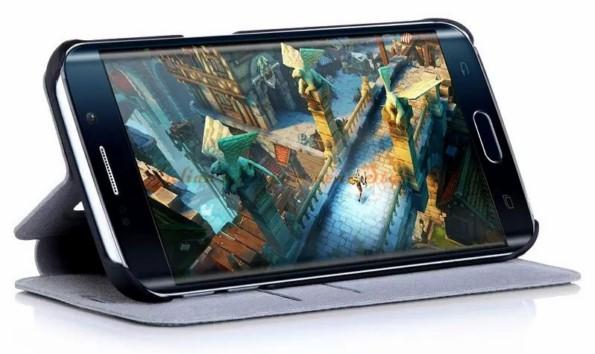 чехол из кожи для Galaxy S6 Edge