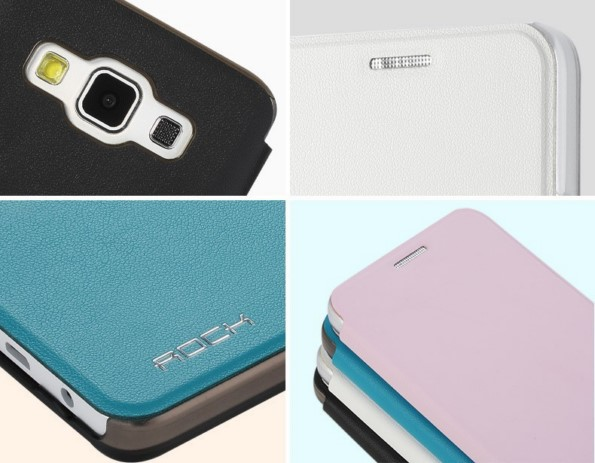 Качественный чехол-книжка для Samsung Galaxy A3