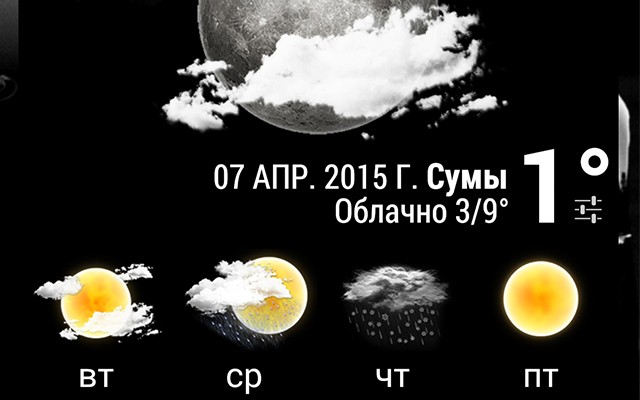 Погода - анимированные виджеты для Samsung Galaxy Note 4, Note 3, S6, S5, S4, S3