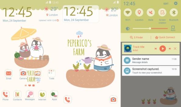 Новые темы для Samsung Galaxy S6, S6 Edge, A7, A5