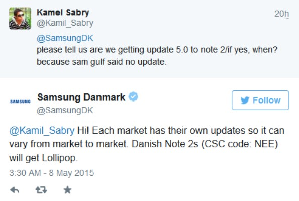 Samsung Galaxy Note 2 получит Android 5 Lollipop