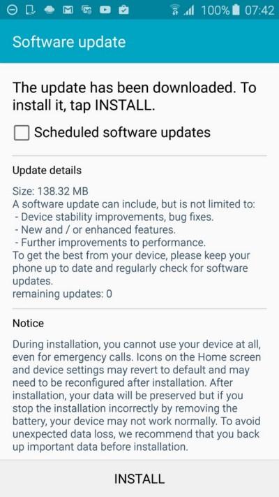 Обновление с исправлениями получает Galaxy S6 в Европе