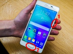 Samsung Galaxy A3, A5, A7 как сделать скриншот