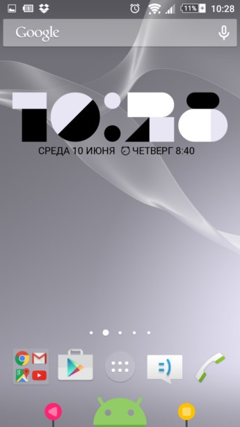 FORM Clock Widget – часы из плиток для Galaxy S6, S5, S4, S3, Note 3, Note 4, A3, A5, A7