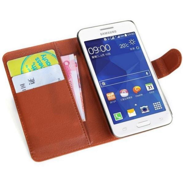 чехол из кожи на Samsung Galaxy Core 2