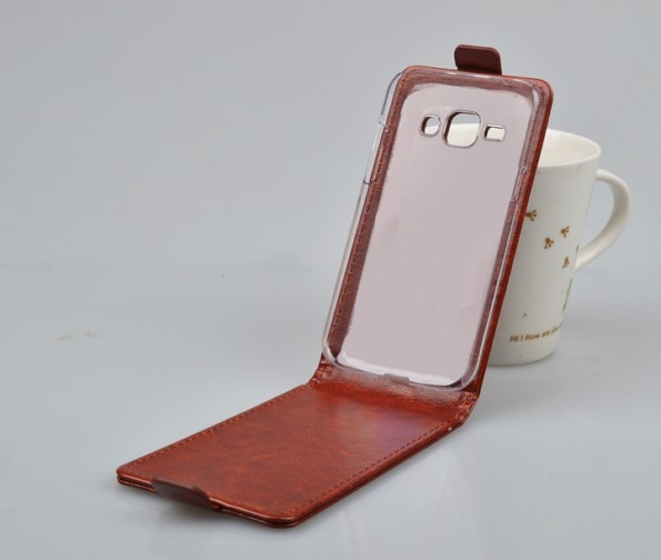 кожаный флип-чехол для Galaxy J1