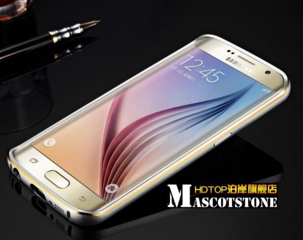 металлический бампер на Samsung Galaxy S6 edge