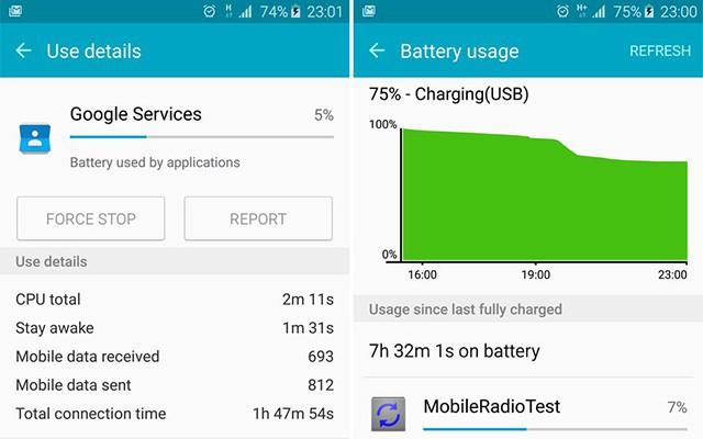 Android Lollipop потребляет много заряда в Galaxy S6