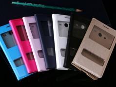 флип чехол с окошком для Samsung Galaxy Core 2