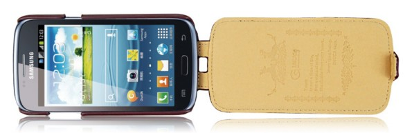 чехол из кожи для Samsung Galaxy Core