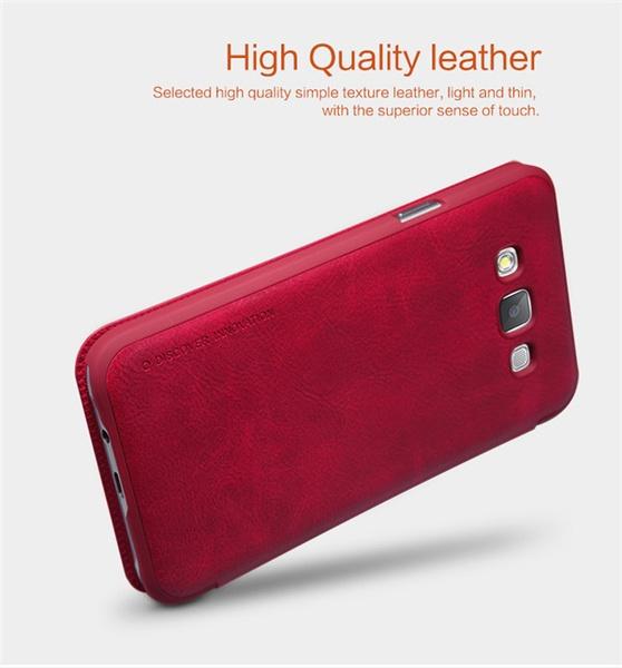 Чехол книжка для Samsung Galaxy E5 оригинал от Nillkin - красный