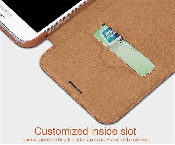 Чехол книжка для Samsung Galaxy E5 оригинал от Nillkin с кошельком