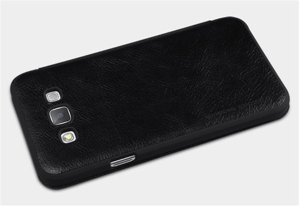 Чехол книжка для Samsung Galaxy E5 оригинал от Nillkin - черный