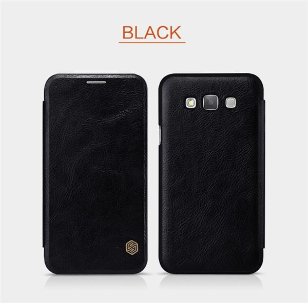 Черный чехол книжка для Samsung Galaxy E5