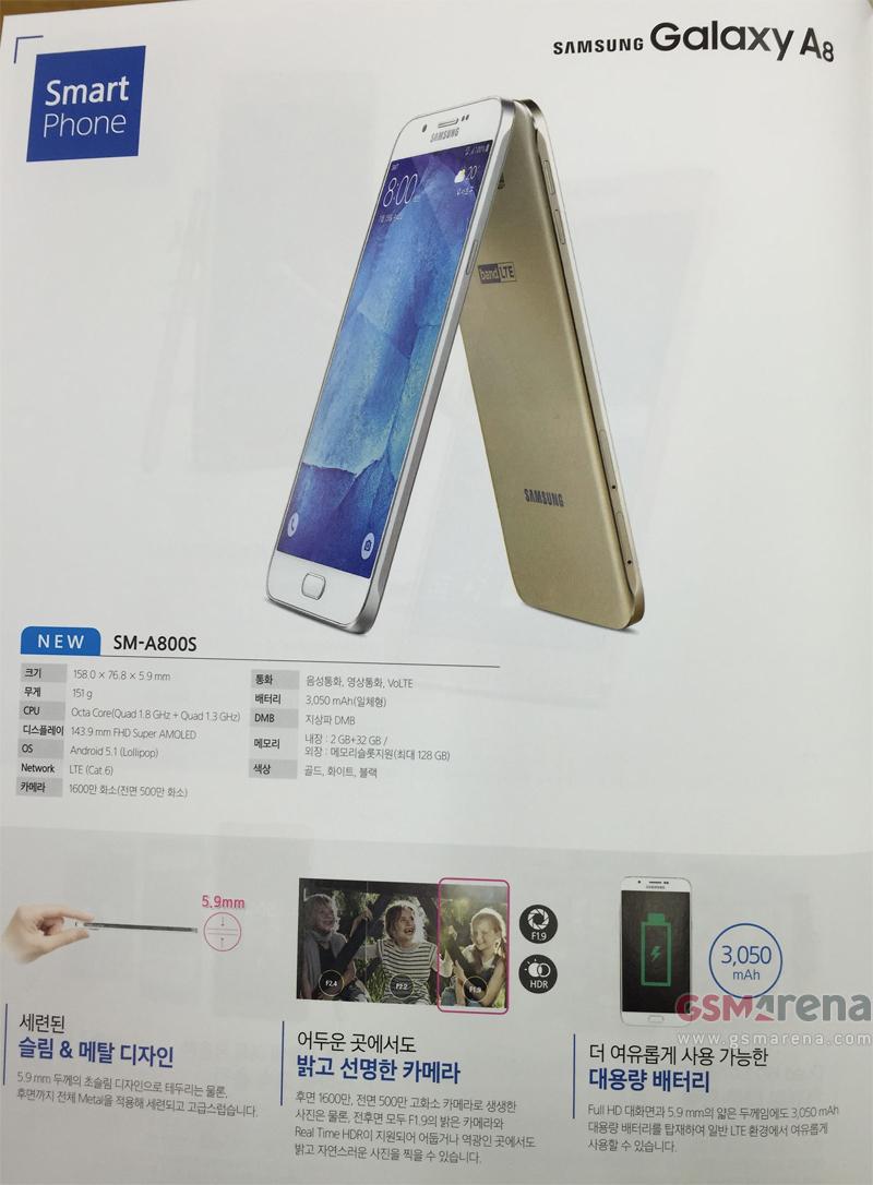 В Galaxy A8 будет 16МП f/1.9 камера с Real-Time HDR