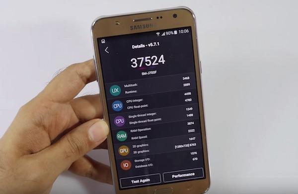 Samsung Galaxy J7 в AnTuTu