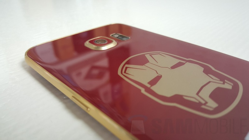Samsung Galaxy S6 edge Iron Man Edition - задняя крышка