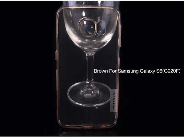 Чехол от Nillkin из силикона для Samsung Galaxy S6 - оранжевый