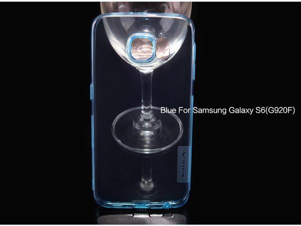 Накладка из силикона для Samsung Galaxy S6 - голубой цвет